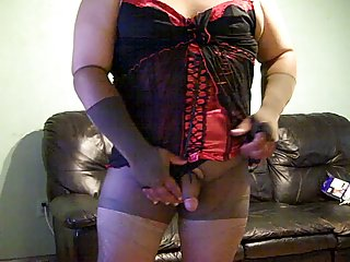 Amateur cd in new lingerie