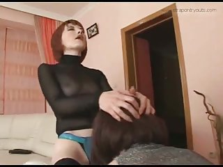 Strict lady for horny crossdresser