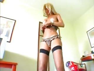 Titty tranny live solo action