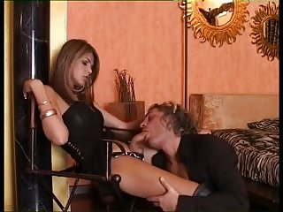 Sexy Tgirl in mutual action