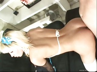 Shemale Blonde Thottie Drilled