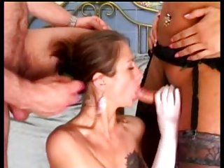 Bride fucked by tranny and man