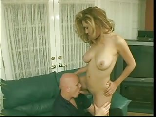 Blonde TS with lover fucking each other