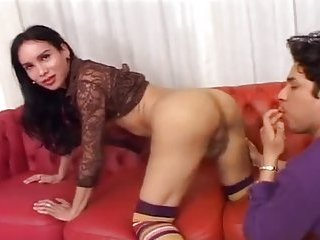 Lucky dude enjoying sex with sexy shemale