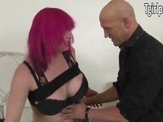 Big tits TS Kitty K picked up and analed