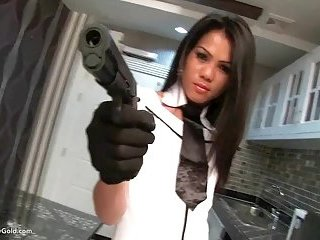 Ladyboy Cindy Kitchen Anal Toy