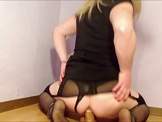 Slut crossdresser fucks his ass and cumshot by shirley coxx