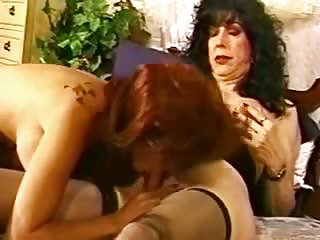 Vintage Tranny Gets Her Cock Sucked By Girl