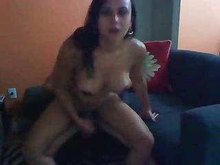 Big butt Tgirl rides a cock