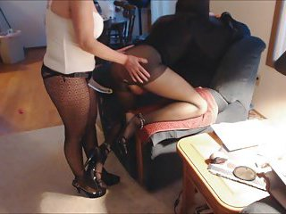 Horny girl makes a strapon fuck for a CD