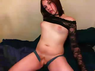 Teen tranny posing for webcam