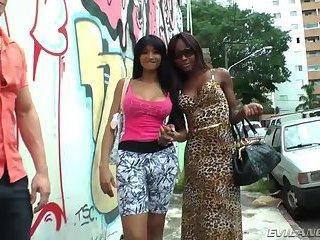 Ebony TS Isabela Sotami gives oral service and have interracial sex