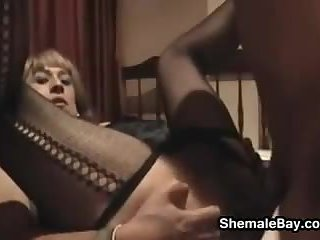 Shemale Sucks And Gets Fucked