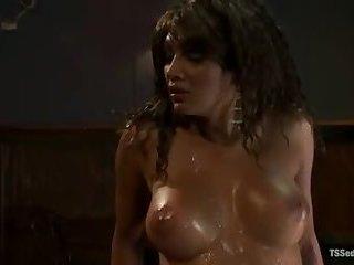 Wicked Yasmin fucks& sucks 2Guys