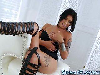 Latina shemale tugging